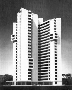 high rise block